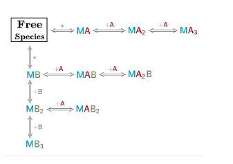 Binding Reaction Scheme of a competitive interaction